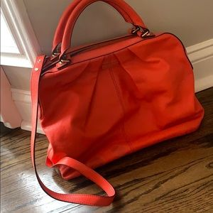 Kate Spade poppy red leather bag